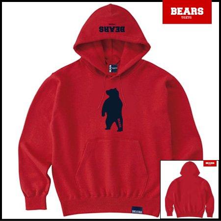 ■ ANIMAL BEAR MIDDLE プルオーバースウェットパーカー ANIMAL BEAR MIDDLE(アニマルベアーミドル )レッド