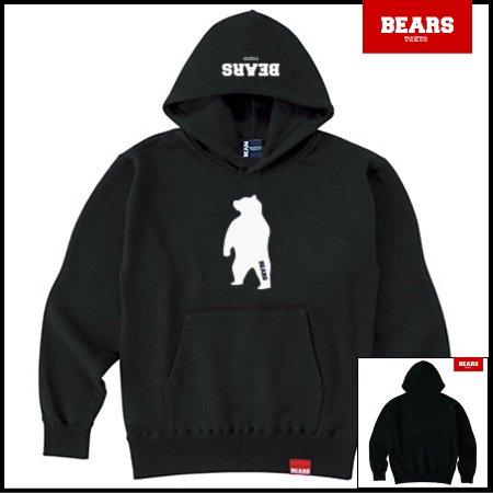 ■ ANIMAL BEAR MIDDLE プルオーバースウェットパーカー ANIMAL BEAR MIDDLE(アニマルベアーミドル )ブラック
