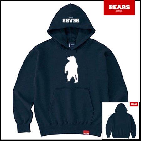 ■ ANIMAL BEAR MIDDLE プルオーバースウェットパーカー ANIMAL BEAR MIDDLE(アニマルベアーミドル )ネイビー