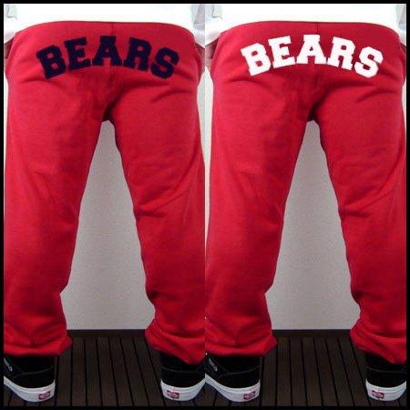 ■ BEARS TOKYO スウェットパンツ ANIMAL BEAR BIG ARCH(アニマルベアビッグアーチ)レッド