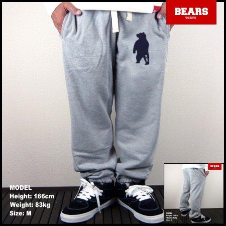 ■ BEARS TOKYO スウェットパンツ ANIMAL BEAR(アニマルベアースウェットパンツ)グレー