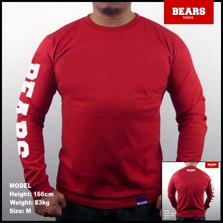 ■ BEARS TOKYO ロングスリーブTシャツ BEARS SLEEVE (ベアーズスリーブ) レッド