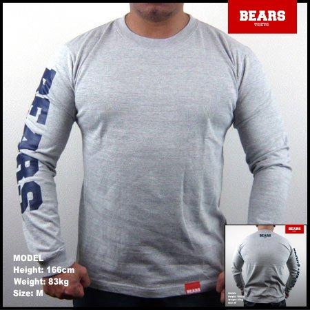 ■ BEARS TOKYO ロングスリーブTシャツ BEARS SLEEVE (ベアーズスリーブ) グレー