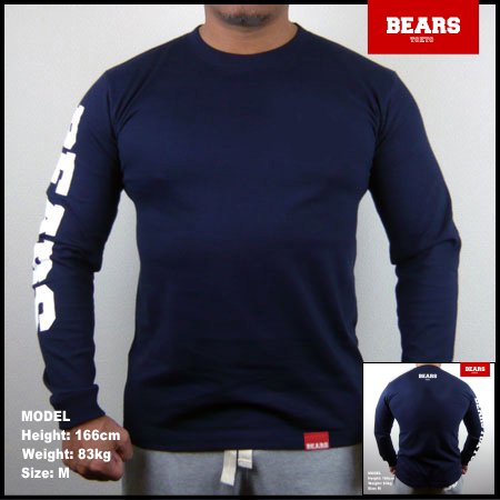 ■ BEARS TOKYO ロングスリーブTシャツ BEARS SLEEVE (ベアーズスリーブ) ネイビー