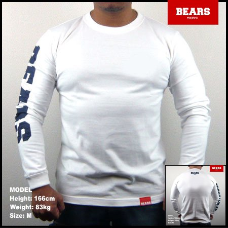 ■ BEARS TOKYO ロングスリーブTシャツ BEARS SLEEVE (ベアーズスリーブ) ホワイト
