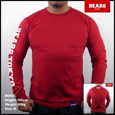 ■ BEARS TOKYO ロングスリーブTシャツ BEARS TOKYO SLEEVE (ベアーズトウキョウスリーブ)レッド