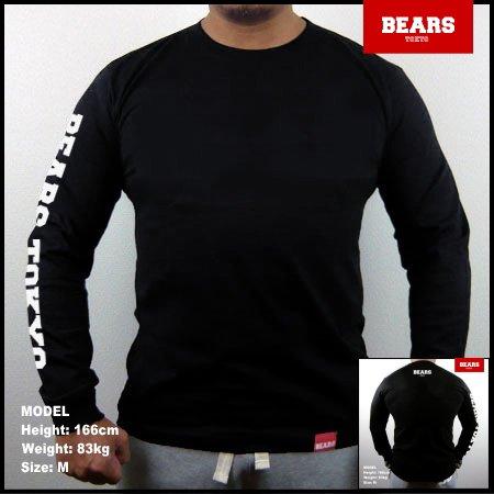 ■ BEARS TOKYO ロングスリーブTシャツ BEARS TOKYO SLEEVE (ベアーズトウキョウスリーブ)ブラック