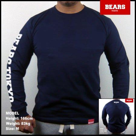 ■ BEARS TOKYO ロングスリーブTシャツ BEARS TOKYO SLEEVE (ベアーズトウキョウスリーブ)ネイビー