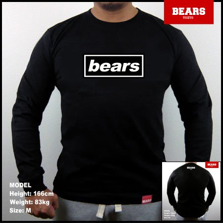 <img class='new_mark_img1' src='//img.shop-pro.jp/img/new/icons13.gif' style='border:none;display:inline;margin:0px;padding:0px;width:auto;' />■ BEARS TOKYO ロングスリーブTシャツ BEARS UK ROCK (ベアーズUKロック)ブラック