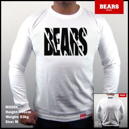 <img class='new_mark_img1' src='//img.shop-pro.jp/img/new/icons13.gif' style='border:none;display:inline;margin:0px;padding:0px;width:auto;' />■ BEARS TOKYO ロングスリーブTシャツ TOUGH (タフ)ホワイト×ブラック