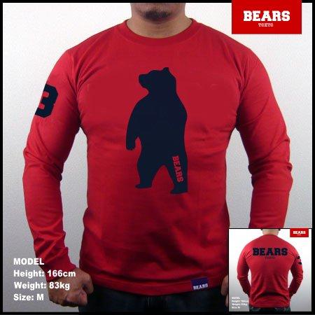 ■ BEARS TOKYO ロングスリーブTシャツ ANIMAL BIG BEAR (アニマルビッグベアー)レッド