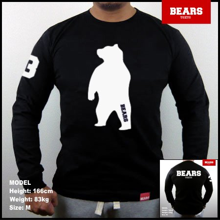 <img class='new_mark_img1' src='//img.shop-pro.jp/img/new/icons13.gif' style='border:none;display:inline;margin:0px;padding:0px;width:auto;' />■ BEARS TOKYO ロングスリーブTシャツ ANIMAL BIG BEAR (アニマルビッグベアー)ブラック
