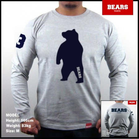 <img class='new_mark_img1' src='//img.shop-pro.jp/img/new/icons13.gif' style='border:none;display:inline;margin:0px;padding:0px;width:auto;' />■ BEARS TOKYO ロングスリーブTシャツ ANIMAL BIG BEAR (アニマルビッグベアー)グレー