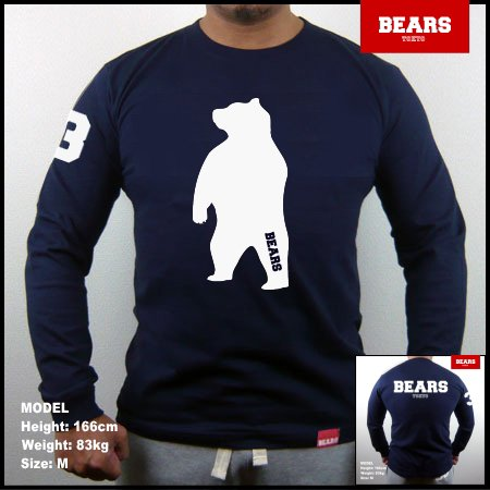 <img class='new_mark_img1' src='//img.shop-pro.jp/img/new/icons13.gif' style='border:none;display:inline;margin:0px;padding:0px;width:auto;' />■ BEARS TOKYO ロングスリーブTシャツ ANIMAL BIG BEAR (アニマルビッグベアー)ネイビー