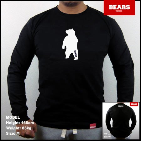 <img class='new_mark_img1' src='//img.shop-pro.jp/img/new/icons13.gif' style='border:none;display:inline;margin:0px;padding:0px;width:auto;' />■ BEARS TOKYO ロングスリーブTシャツ ANIMAL MIDDLE BEAR (アニマルミドルベアー)ブラック