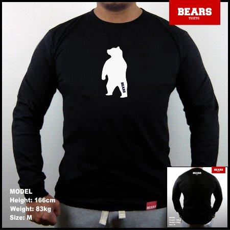 ■ BEARS TOKYO ロングスリーブTシャツ ANIMAL MIDDLE BEAR (アニマルミドルベアー)ブラック