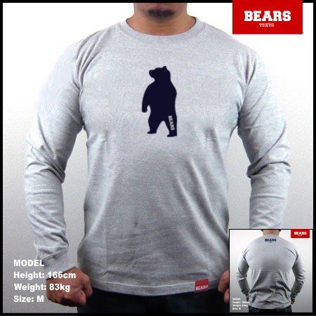 ■ BEARS TOKYO ロングスリーブTシャツ ANIMAL MIDDLE BEAR (アニマルミドルベアー)グレー