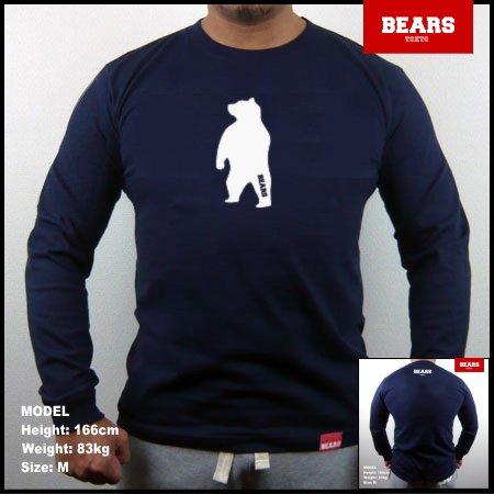 ■ BEARS TOKYO ロングスリーブTシャツ ANIMAL MIDDLE BEAR (アニマルミドルベアー)ネイビー