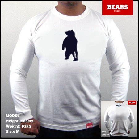 ■ BEARS TOKYO ロングスリーブTシャツ ANIMAL MIDDLE BEAR (アニマルミドルベアー)ホワイト