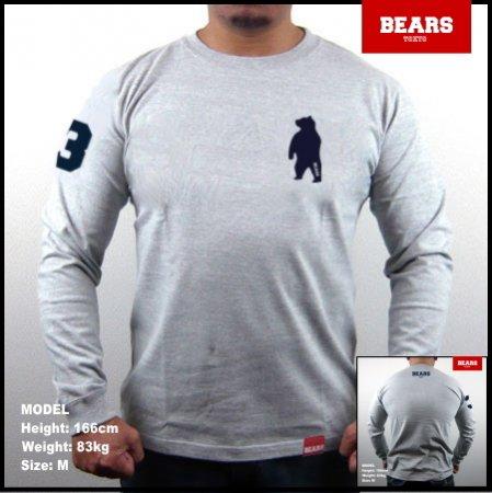 ■ BEARS TOKYO ロングスリーブTシャツ ANIMAL BEAR (アニマルベアー)グレー