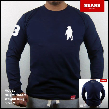 ■ BEARS TOKYO ロングスリーブTシャツ ANIMAL BEAR (アニマルベアー)ネイビー