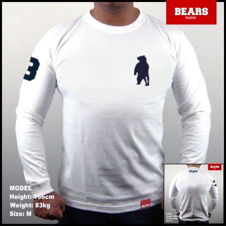 ■ BEARS TOKYO ロングスリーブTシャツ ANIMAL BEAR (アニマルベアー)ホワイト