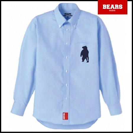 ■ BEARS TOKYO 長袖シャツ ANIMAL BEAR SHIRTS (アニマルベアーシャツ)ブルー