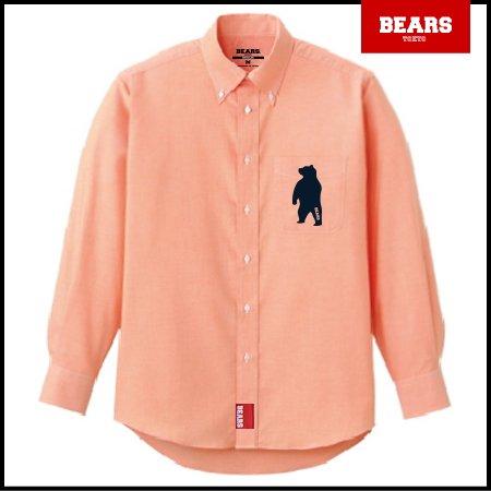 ■ BEARS TOKYO 長袖シャツ ANIMAL BEAR SHIRTS (アニマルベアーシャツ)オレンジ
