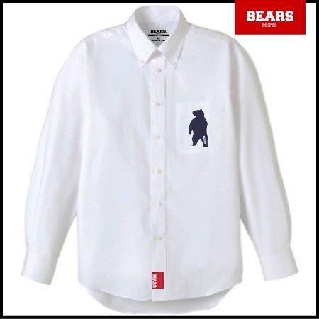 ■ BEARS TOKYO 長袖シャツ ANIMAL BEAR SHIRTS (アニマルベアーシャツ)ホワイト