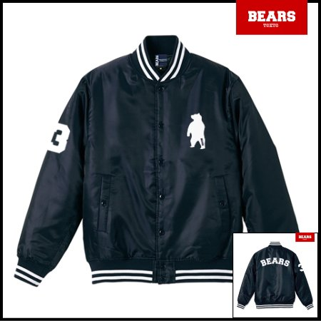■ BEARS TOKYO 中綿 ベースボールジャケット(スタジャン) BASE BALL JACKET ANIMAL BEAR ARCH (アニマルベアーアーチ) ネイビー