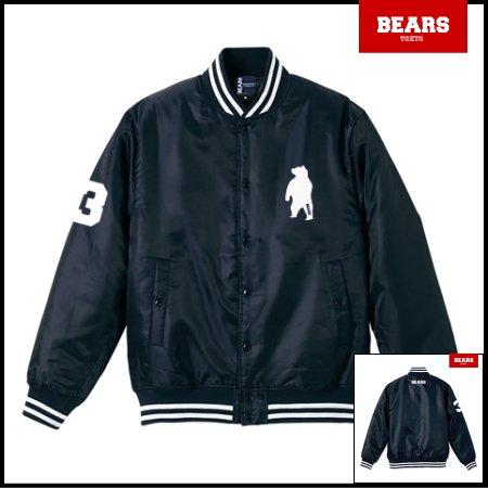 ■ BEARS TOKYO 中綿 ベースボールジャケット(スタジャン) BASE BALL JACKET ANIMAL BEAR (アニマルベアー) ネイビー