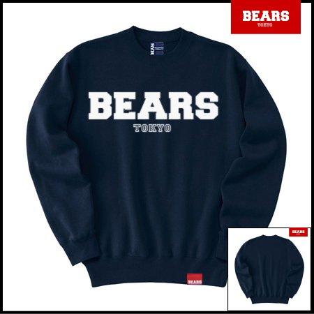 ■ BEARS TOKYO スウェットシャツ BEARS LOGO SWEAT SHIRTS (ベアーズロゴスウェットシャツ) ネイビー