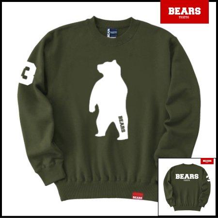 ■ BEARS TOKYO スウェットシャツ ANIMAL BIG BEAR (アニマルビッグベアー) カーキ