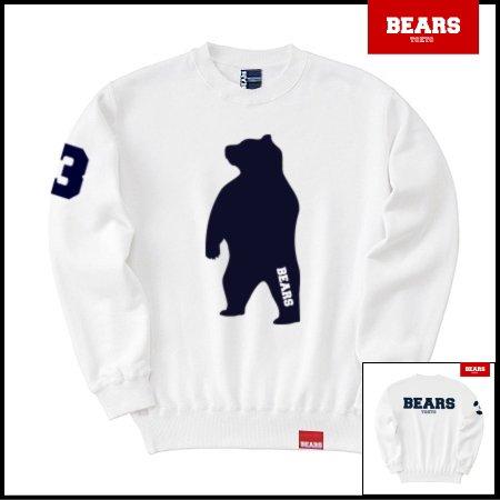 ■ BEARS TOKYO スウェットシャツ ANIMAL BIG BEAR (アニマルビッグベアー) ホワイト