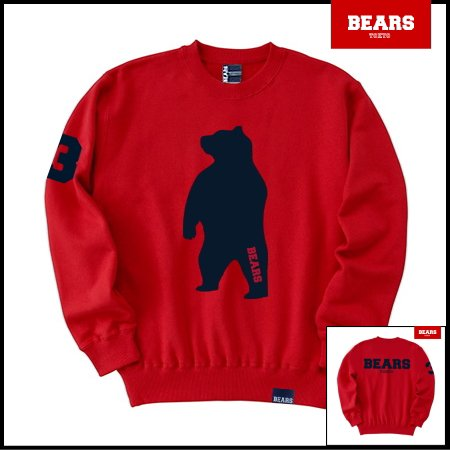 ■ BEARS TOKYO スウェットシャツ ANIMAL BIG BEAR (アニマルビッグベアー) レッド