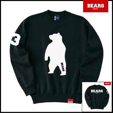■ BEARS TOKYO スウェットシャツ ANIMAL BIG BEAR (アニマルビッグベアー) ブラック
