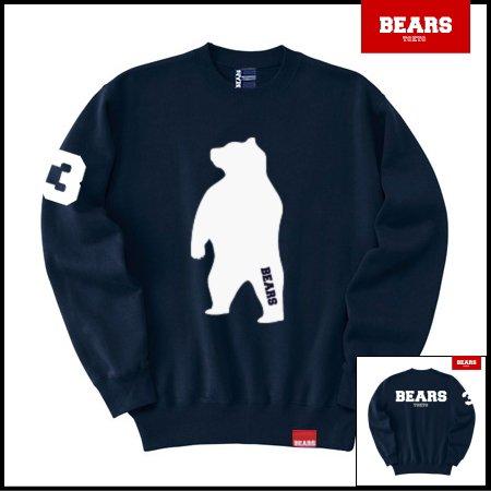 ■ BEARS TOKYO スウェットシャツ ANIMAL BIG BEAR (アニマルビッグベアー) ネイビー