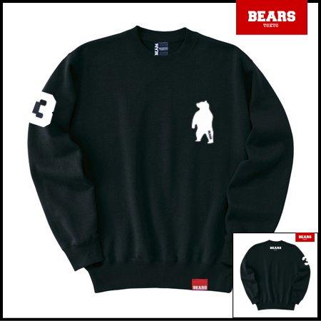 ■ BEARS TOKYO スウェットシャツ ANIMAL BEAR (アニマルベアー) ブラック