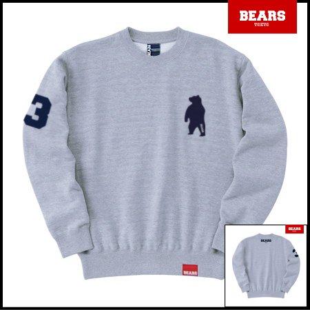 ■ BEARS TOKYO スウェットシャツ ANIMAL BEAR (アニマルベアー) グレー