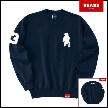 ■ BEARS TOKYO スウェットシャツ ANIMAL BEAR (アニマルベアー) ネイビー