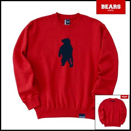 ■ BEARS TOKYO スウェットシャツ ANIMAL MIDDLE BEAR (アニマルミドルベアー) レッド
