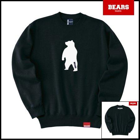 ■ BEARS TOKYO スウェットシャツ ANIMAL MIDDLE BEAR (アニマルミドルベアー) ブラック