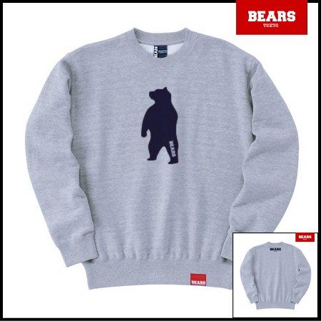 ■ BEARS TOKYO スウェットシャツ ANIMAL MIDDLE BEAR (アニマルミドルベアー) グレー