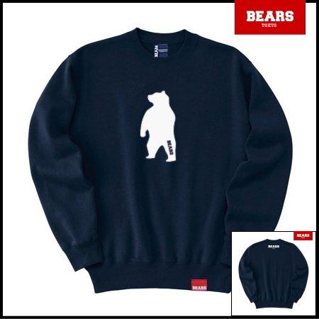 ■ BEARS TOKYO スウェットシャツ ANIMAL MIDDLE BEAR (アニマルミドルベアー) ネイビー