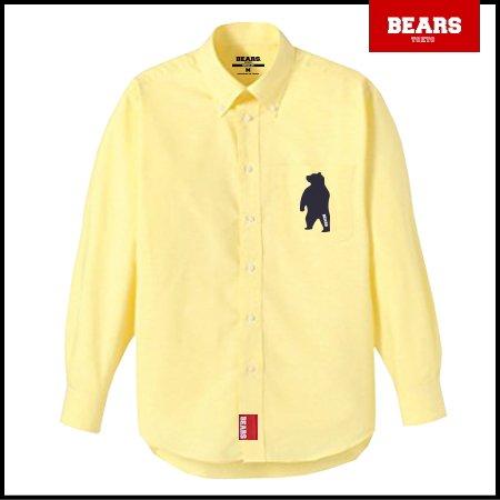 ■ BEARS TOKYO 長袖シャツ ANIMAL BEAR SHIRTS (アニマルベアーシャツ)イエロー