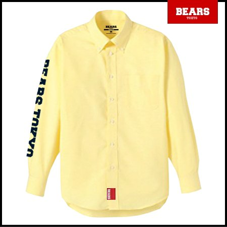 ■ BEARS TOKYO 長袖シャツ BEARS TOKYO SLEEVE (ベアーズトウキョウスリーブ)イエロー
