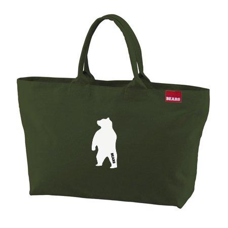 ■ BEARS TOKYO ジップトートバッグ ZIP TOTE BAG ANIMAL BEAR (アニマルベアー) カーキ
