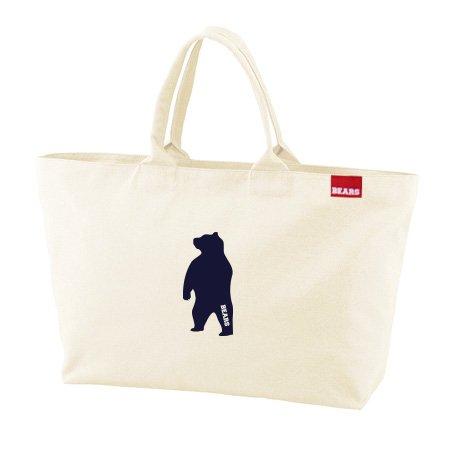 ■ BEARS TOKYO ジップトートバッグ ZIP TOTE BAG ANIMAL BEAR (アニマルベアー) ナチュラル