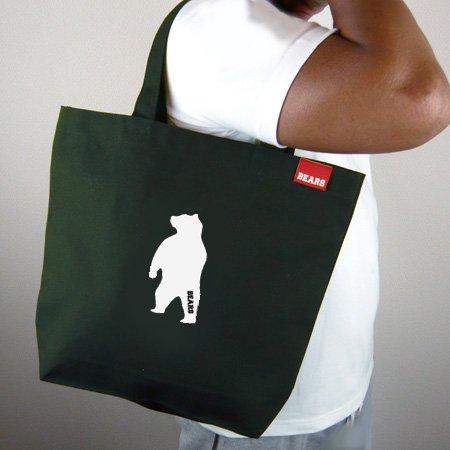 ■ BEARS TOKYOトートバッグ TOTE BAG ANIMAL BEAR (アニマルベアー) カーキ