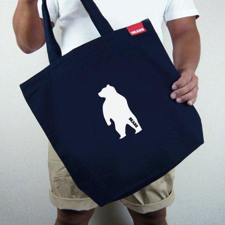 ■ BEARS TOKYOトートバッグ TOTE BAG ANIMAL BEAR (アニマルベアー) ネイビー